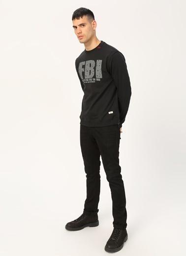 Fbi Sweatshirt Siyah